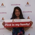 Alma Lopex scholarship recipient